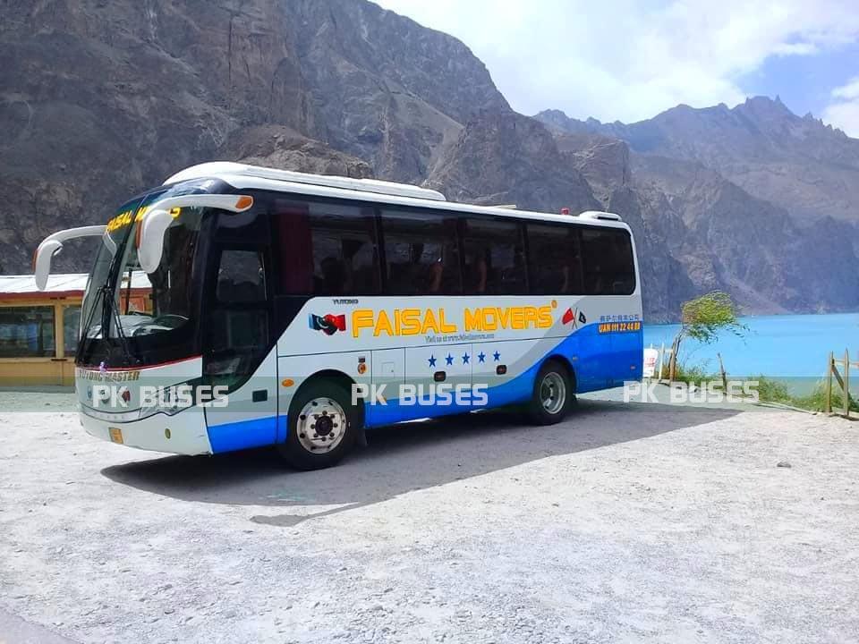 faisal movers mini yutong bus