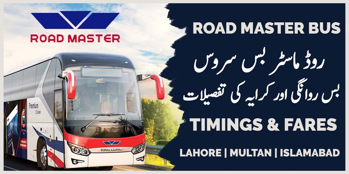 road master bus timings and fares, ticket price list
