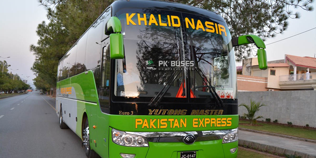 pakistan express khalid nasir yutong master bus islamabad to karachi