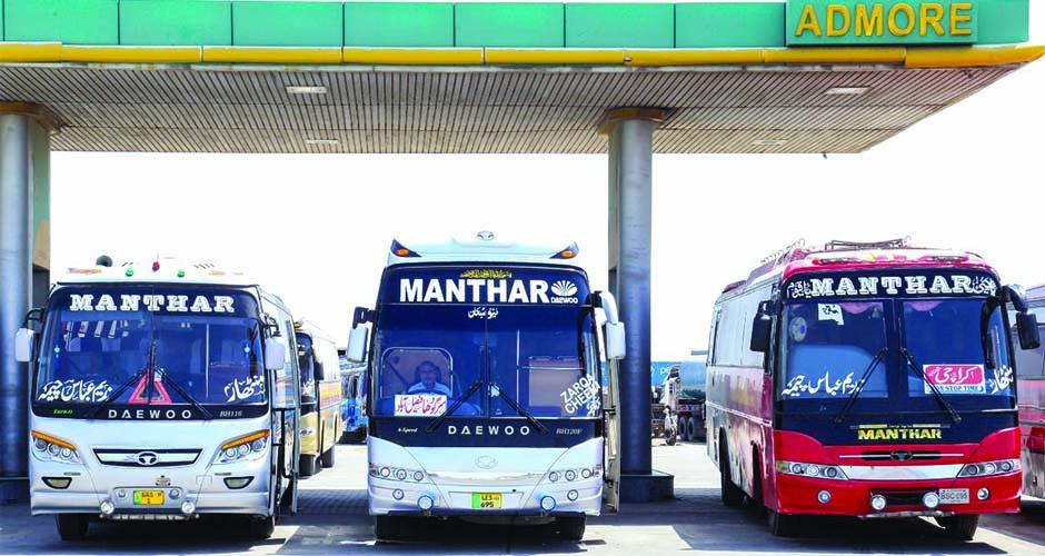 Manthar Daewoo Bus Service Sadiqabad