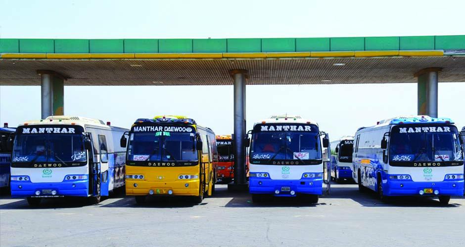 Manthar Express Daewoo buses Faisal Movers