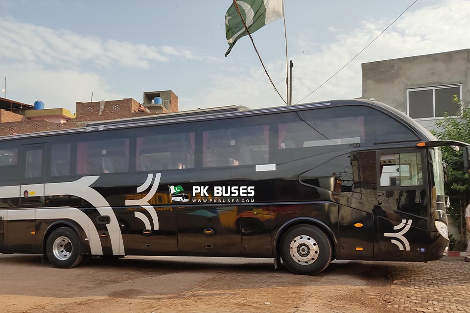 Faisal Movers new Yutong Black Color Bus