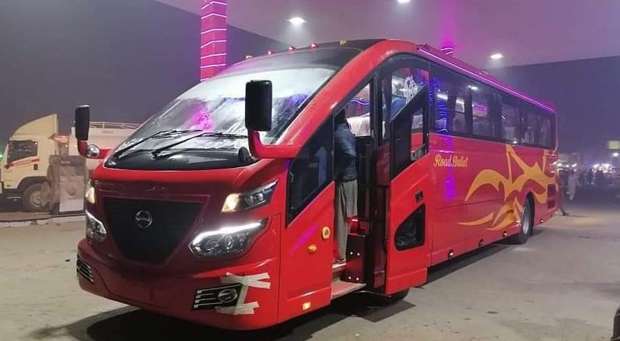 Road Bullet bus, luxury bus from quetta to karachi