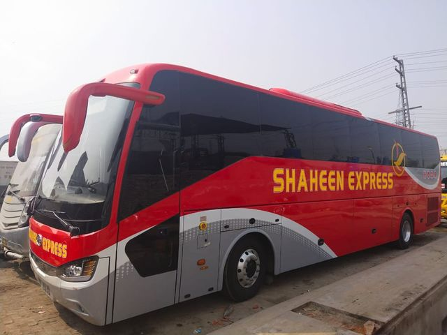 Shaheen Express luxury Higer Bus Lahore to Kohat