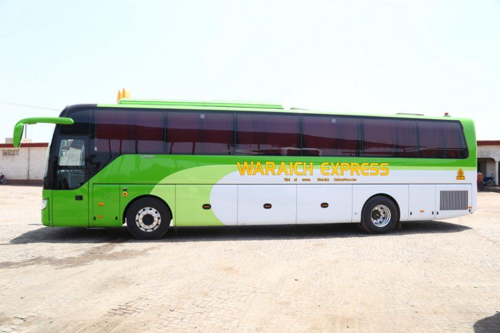 Waraich Express Yutong Bus Service