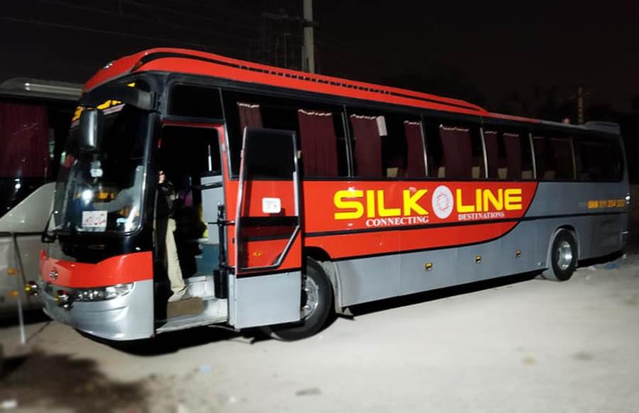 silk line daewoo bus lahore to multan route