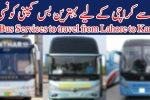 Best Bus Services to travel from Lahore to Karachi, Faisal Movers, Daewoo Express, Manthar and Waraich Express
