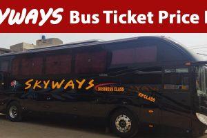 Skyways Bus Ticket Price