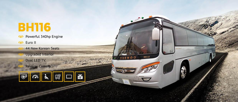 daewoo pakistan bh116 model luxury bus